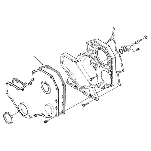 cummins 4b and 6b front cover gasket  3918673